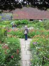 Entering the sunken garden