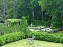 Across the terrace to the Italian garden.